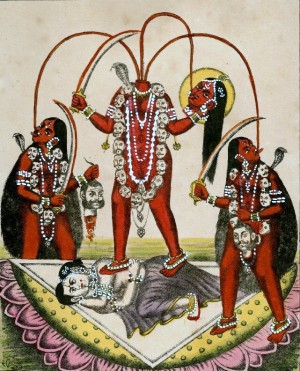 Chhinnamasta drinking her own blood
